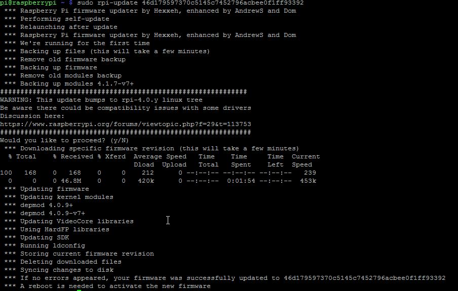 How to upgrade or downgrade raspberrypi's kernel? (Servoblaster